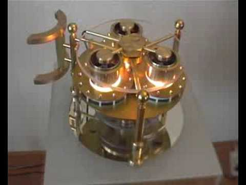 """Flying Saucer"" Steampunk triple ltd engine"