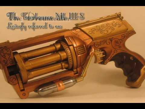 "Steampunk Gun ""The Dreameater"" a modified Nerf Maverick"
