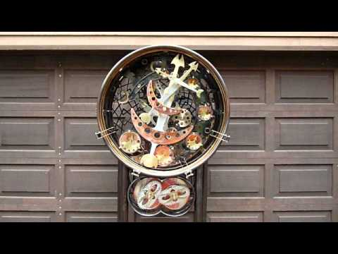 "Kinetic Clockwork Steampunk Sculpture ""Mesmerometer"""