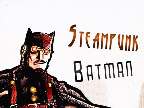 Steampunk Batman Painting! HUZZAH!