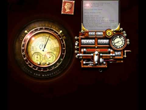 Steampunk Clock/Calendar Widget